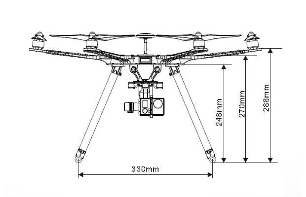 Hobby Tech :: Thunder S550 Hexacopter Frame Kit