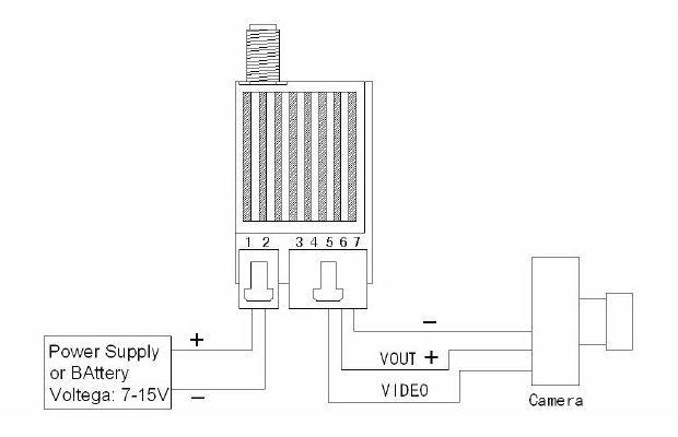hobby tech    fpv 5 8g 1000mw a  v transmitter 10058t